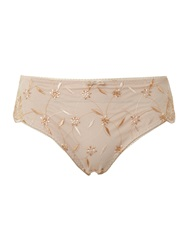 Playtex Sophisticated Tulle And Micro Brief Nude