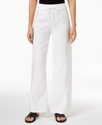 Eileen Fisher Pull On Wide Leg Pants White