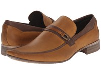 Massimo Matteo Mocc With Buckle Strap Caramelo Men's Slip On Dress Shoes Brown