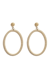 Carolina Bucci 18K Gold Gitane Sparkly Oval Earrings