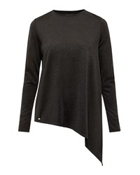 Ted Baker Vangeli Asymmetric Sparkle Jumper Black