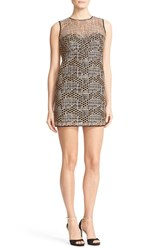Milly Women's Geo Sequin A Line Dress