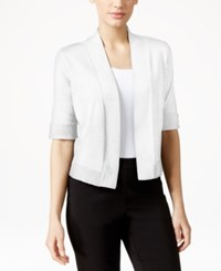 Jm Collection Cropped Open Front Cardigan Only At Macy's Bright White