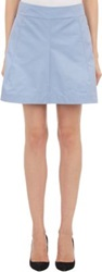 Jil Sander Shantung Mini Skirt Blue