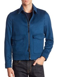 Burberry Long Sleeve Cashmere Jacket Dark Blue
