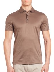 Pal Zileri Solid Polo Shirt Taupe