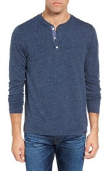 Faherty Men's Long Sleeve Henley Navy