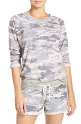 Honeydew Intimates Women's Burnout French Terry Sweatshirt Grey Camo