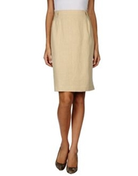 Antonio Fusco Knee Length Skirts Beige