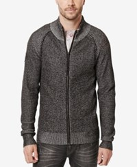 Buffalo David Bitton Men's Waren Knit Full Zip Sweater Cannon