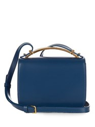 Marni Sculpture Leather Cross Body Bag Navy