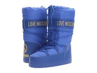 Love Moschino Logo Moon Boot Blue