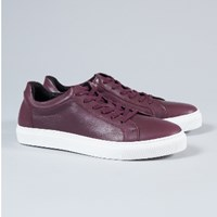 Selected Men's Burgundy Leather Dylan Trainers