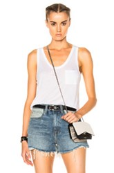 Alexander Wang T By Classic Rayon Tank Top In White