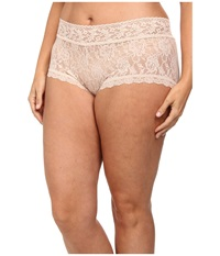 Hanky Panky Plus Size Signature Lace Solid New Boyshort Chai Women's Underwear Brown
