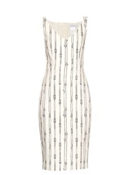 Max Mara Obliqua Dress White Print