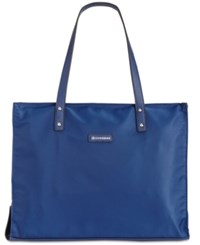 Giani Bernini Nylon Foldable Packacble Tote Only At Macy's Navy