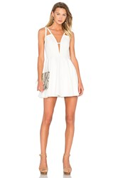 Nbd X Naven Twins Let It Happen Fit And Flare Dress White