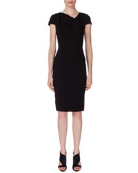 Roland Mouret Gylia V Neck Sheath Dress Black