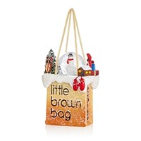 Bloomingdale's Little Brown Bag Snowman Ornament Multi