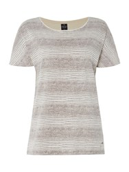Tigi Dolman Cap Sleeve Striped Top Cream