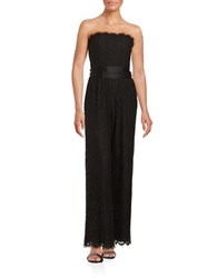 Rachel Zoe Strapless Lace Jumpsuit Black