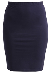 Zalando Essentials Pencil Skirt Dark Blue