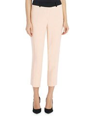 Ellen Tracy Contrast Waist Slim Dress Pants Yellow