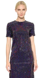 Nina Ricci Sequin Top Black Blue