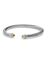 Cable Classics Bracelet With Citrine And Diamonds David Yurman