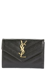 Saint Laurent Women's 'Monogram' Quilted Leather French Wallet