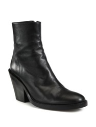 Ann Demeulemeester Leather Mid Calf Boots Black