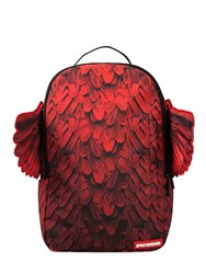 Sprayground Red Wings Printed Backpack With Wings