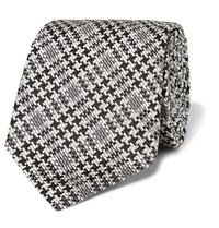 Tom Ford 8Cm Checked Silk Tie Gray