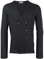 Paolo Pecora Double Breasted Cardigan Grey