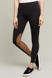 Anthropologie French Terry Leggings Black