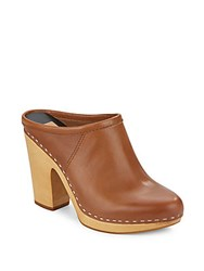 Dolce Vita Ackley Leather Clogs Saddle