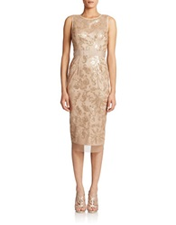 Vince Camuto Sleeveless Sequinned Sheath Pink Champagne