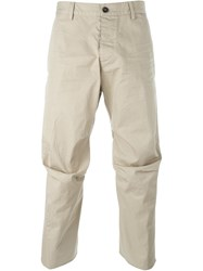 Dsquared2 Cropped Trousers Nude And Neutrals