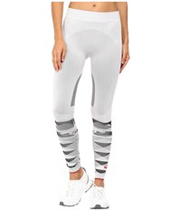 Adidas By Stella Mccartney Winter Sport Seamless Tights Ap7101 White Black Women's Casual Pants