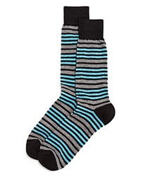 Bloomingdale's The Men's Store At Double Stripe Socks Black