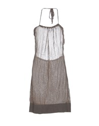 M.Grifoni Denim Dresses Knee Length Dresses Women Grey