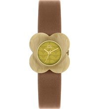 Orla Kiely Poppy Leather Watch Yellow