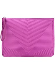 Golden Goose Deluxe Brand Oversized Stitched Star Clutch Pink And Purple
