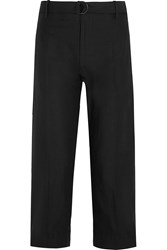 Isabel Marant Onos Cotton And Linen Blend Wide Leg Pants Black