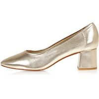 River Island Womens Gold Block Heel Glove Shoes