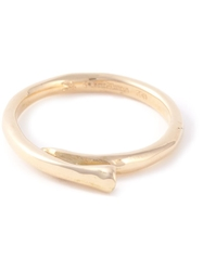 Rosa Maria 18Kt Gold Diamond Curved Ring Metallic