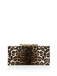 Jimmy Choo Pony Hair Leopard Print Clutch Natural