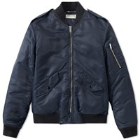 Saint Laurent Classic Ma 1 Jacket Blue