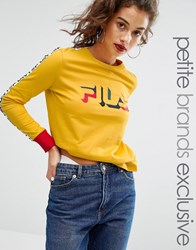 Fila Petite Motif Long Sleeve T Shirt Yellow